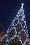 Tree with Christmas Lights Stock Images