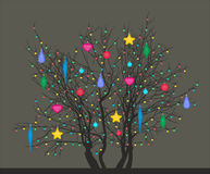 Tree with Christmas toys Royalty Free Stock Photo