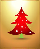 Tree Christmas Vector Illustration Royalty Free Stock Image