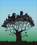 Tree - city Stock Image