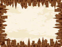 Tree city concept frame Royalty Free Stock Images