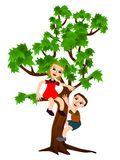 Tree climbing Stock Image