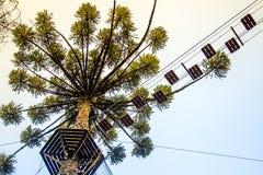 Tree climbing pass sky view Stock Photo