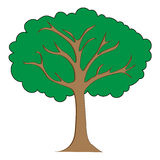 Tree clipart illustration Royalty Free Stock Photography
