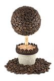 Tree from coffee beans Stock Photos
