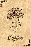 Tree from coffee beans Royalty Free Stock Photography