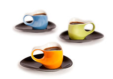 Tree coffee cups Stock Image