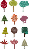 Tree collection. Stock Photography