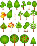 Tree collection Royalty Free Stock Photos
