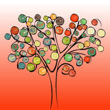 Tree colorful abstract background. Stock Images
