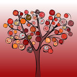 Tree colorful abstract background. Royalty Free Stock Image