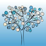 Tree colorful abstract background. Royalty Free Stock Photography