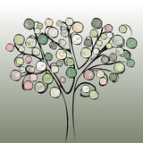 Tree colorful abstract background. Stock Image