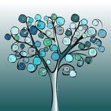 Tree colorful abstract background. Stock Photo
