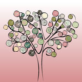 Tree colorful abstract background. Vector illustration design Stock Photo