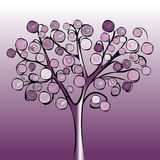 Tree colorful abstract background. Vector illustration design Stock Image
