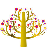 Tree colorful growth plant. Forest icon summer Royalty Free Stock Photography
