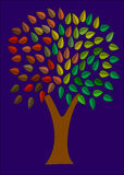 Tree of Colors Night Stock Photography