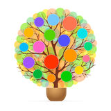 Tree with coloured circles Royalty Free Stock Image