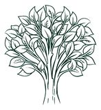 Tree Concept. A conceptual illustration of a tree icon stock illustration