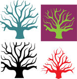 Tree concept four shapes Stock Photos