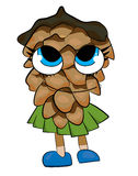 Tree cone cartoon character Stock Photo