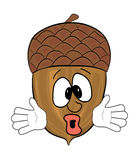 Tree cone cartoon character Royalty Free Stock Photography