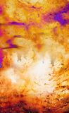 Tree in cosmic space, graphic collage. Fire effect. Tree in cosmic space, graphic collage. Fire effect Royalty Free Stock Image