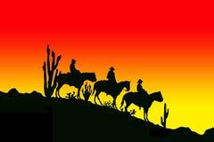 Tree cowboys royalty free illustration