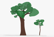Tree creative design. Rendering of design tree with a perforated crown Stock Photos