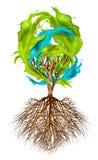Tree of creativity. Tree with color splash leaves, creativity concept stock illustration