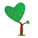 Tree with a crown in the shape of heart vector illustration Royalty Free Stock Photography