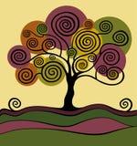 Tree with curls. Garden. Park Stock Illustration