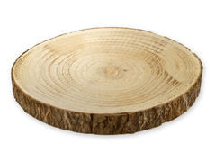 Tree cut from Birch. Breadboard isolated on white background Royalty Free Stock Photos