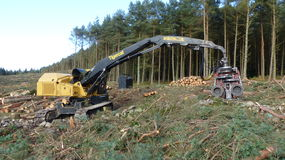 Tree cutting machine Royalty Free Stock Images