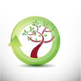 Tree cycle illustration design Royalty Free Stock Images
