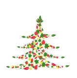 Tree. December, leaf, christmas, winter Stock Image