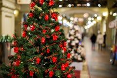 Tree decorated with celebratory toys Royalty Free Stock Photo