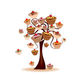 Tree decorated with sweets Stock Image