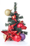 Tree and decorations Stock Images
