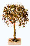 Tree decorative. A decorative tree is made from the copper wire of irazlichnykh pebbles Stock Image