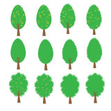 Tree vector cartoon illustration abstract design vector silhouette Stock Image