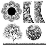 Tree design elements Royalty Free Stock Images