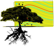 Tree with design elements royalty free illustration