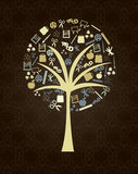 Tree design. Over black background vector illustration Royalty Free Stock Image