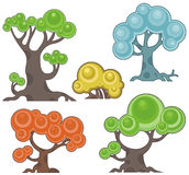 Tree design series. Vector tree designs in cartoon style. EPS file available stock illustration