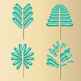 Tree design 8. Tree-style graphics  fashion modern leaves Royalty Free Stock Photos