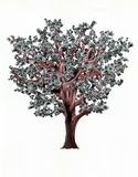 Tree with dollars instead of leafs Royalty Free Stock Photo