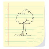 Tree Doodle Illustration Stock Images