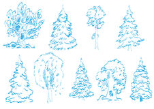Tree doodles Royalty Free Stock Photo